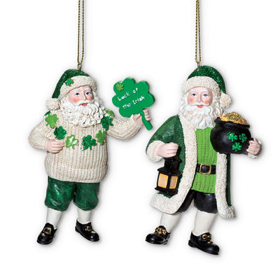 Irish Santa Ornament Set