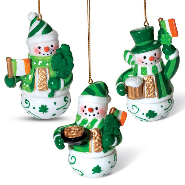 Snowmen Ornament Set