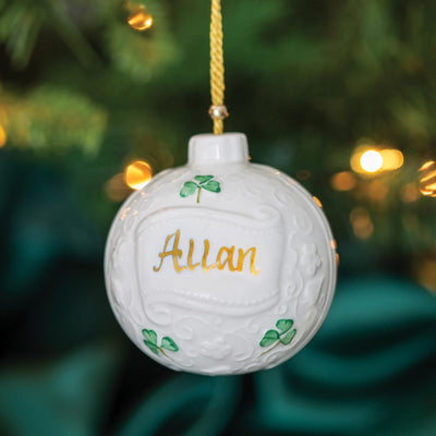 Belleek Personalized Bauble