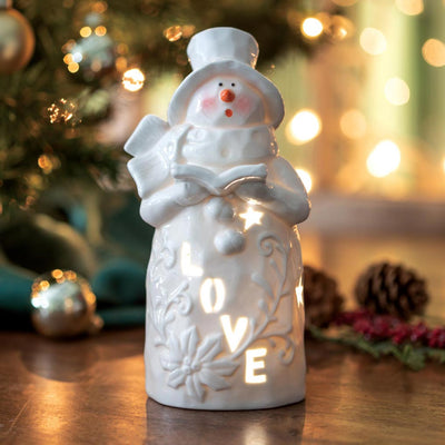 Belleek Love Snowman Luminary
