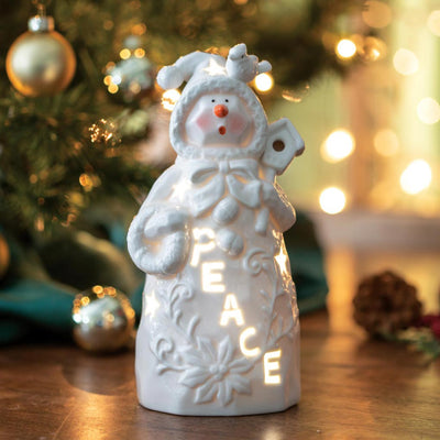 Belleek Peace Snowman Luminary