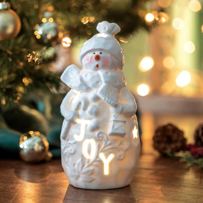 Belleek Joy Snowman Luminary