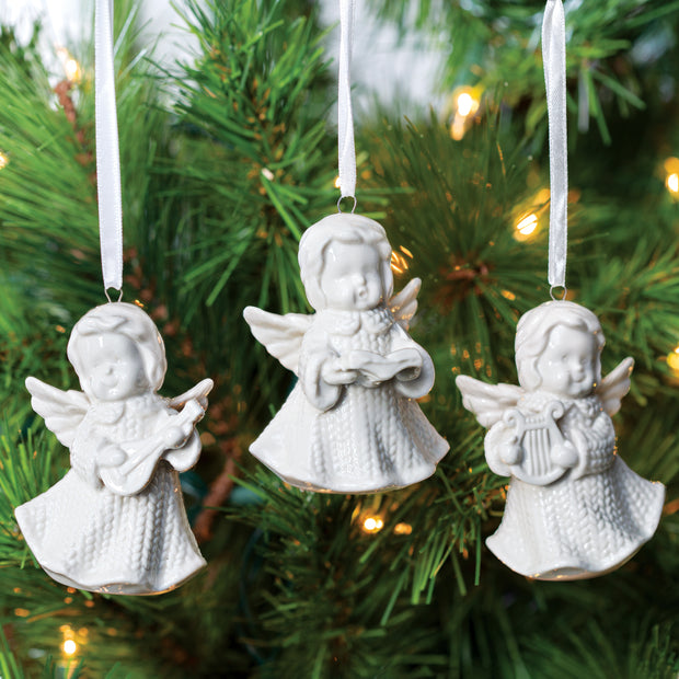 Aran Knit Angel Ornaments