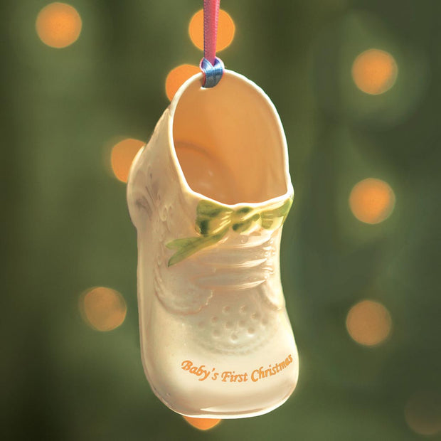 Belleek Baby's First Christmas Ornament