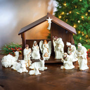 Belleek Classic Nativity with Stable