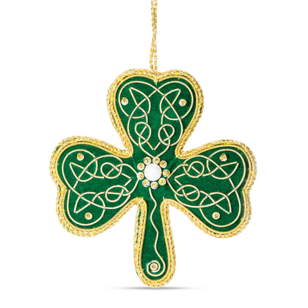 Shamrock Needlepoint Ornament