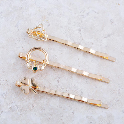 Gold Celtic Hair Pins
