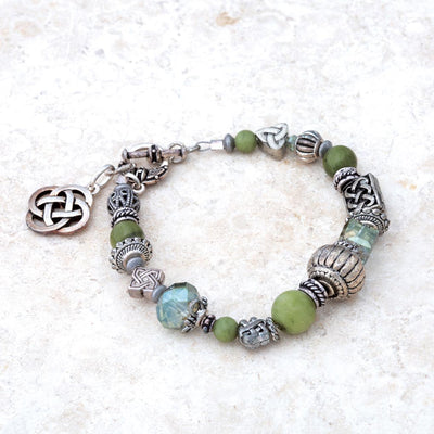 Connemara bracelet with Celtic knot clasp