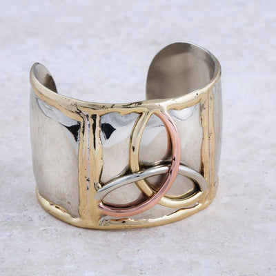 Mixed Metal Trinity Cuff