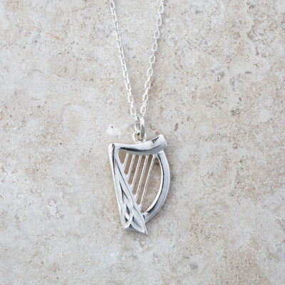 Celtic Harp Necklace