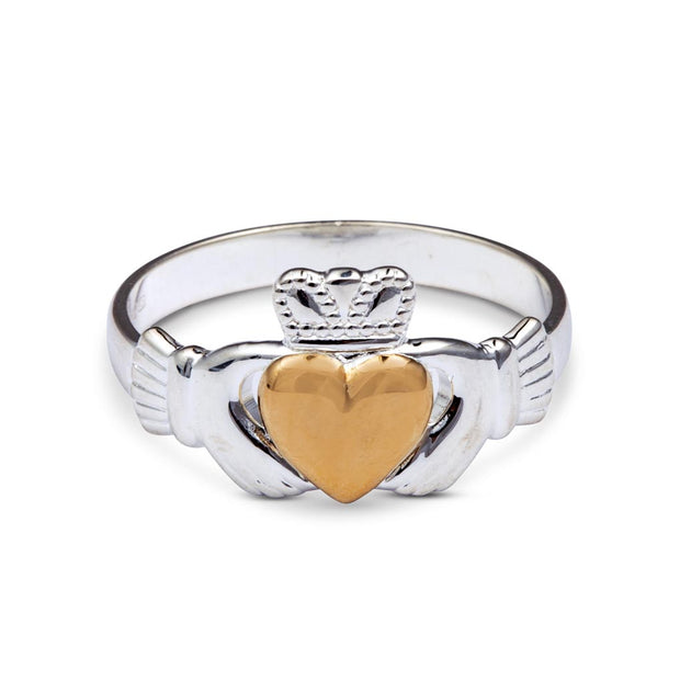 Claddagh with 10K Gold Heart Ring