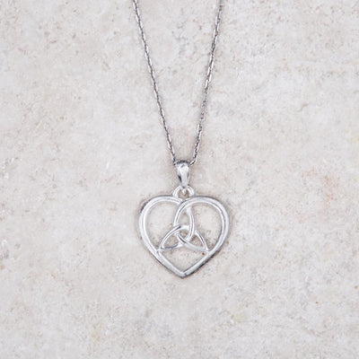 Heart with Trinity Necklace