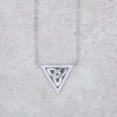 Triangle Trinity Necklace