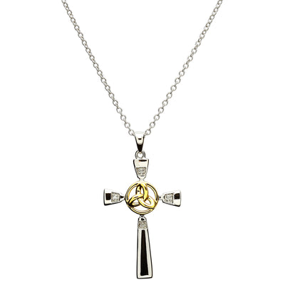 Celtic Trinity Cross Necklace