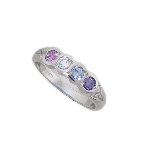 4 Stone Family Birthstone Ring