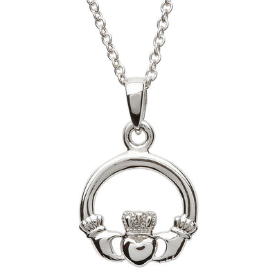 Double Sided Claddagh Necklace