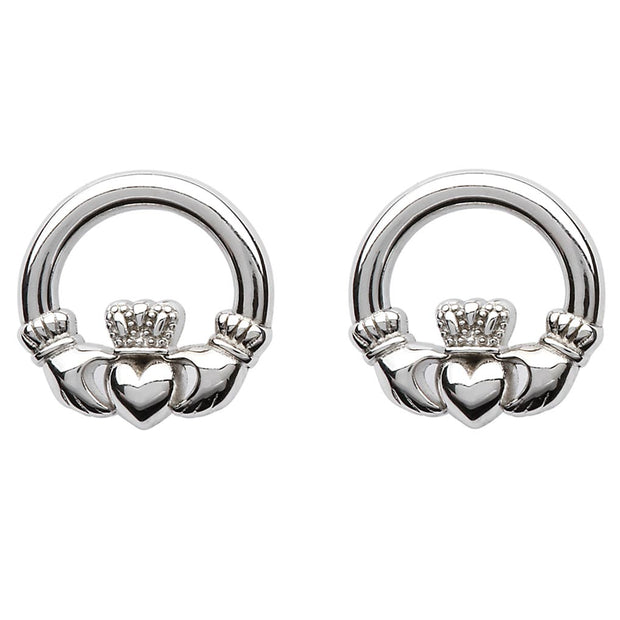 Classic Claddagh Stud Earrings