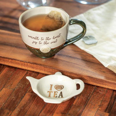 Celtic Teacup with Teabag Holder