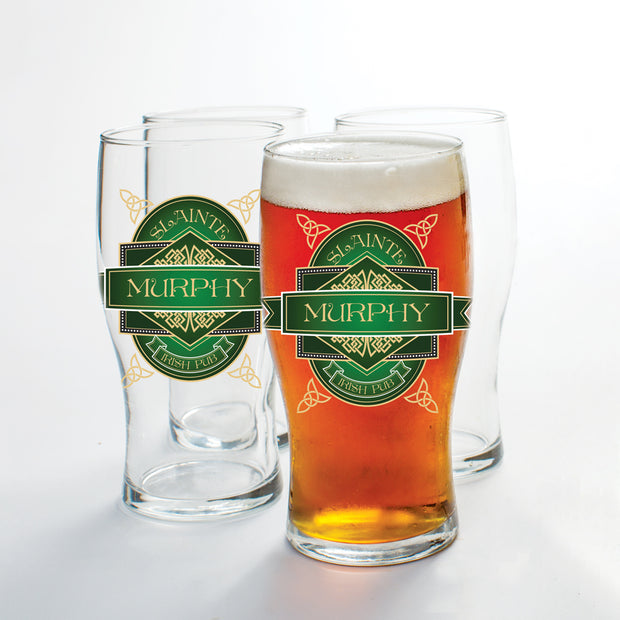 Personalized Pub Glass