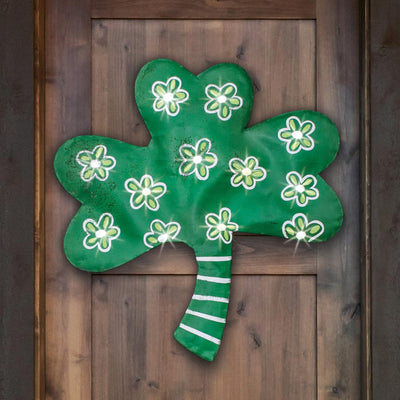 Light Up Shamrock Door Hanger