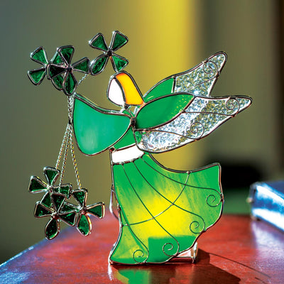 Shamrock Angel Votive Holder
