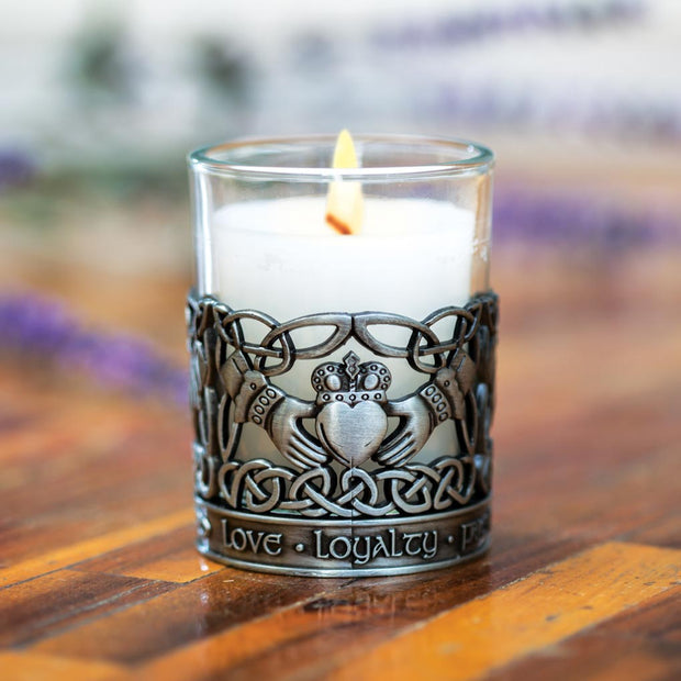 Claddagh Pewter Candle Holder