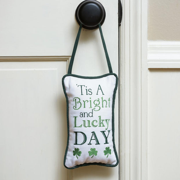 Bright and Lucky Door Hanger