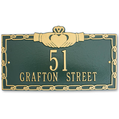 Claddagh Address Plaque