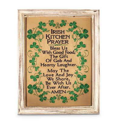 Stitched Irish Kitchen Prayer