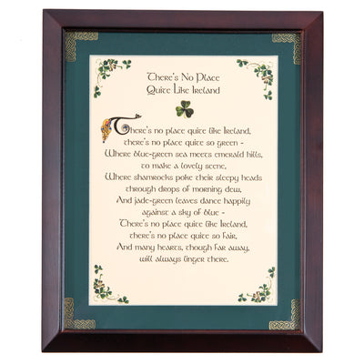 No Place Like Ireland Framed Blessing