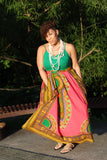 Custom Maxi in Dashiki and Coral