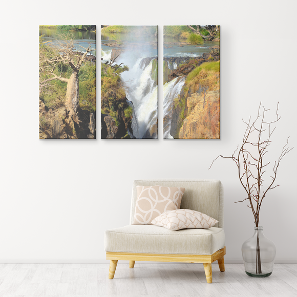 3 Panel Canvas Wall Decor - Epupa Falls, Namibia