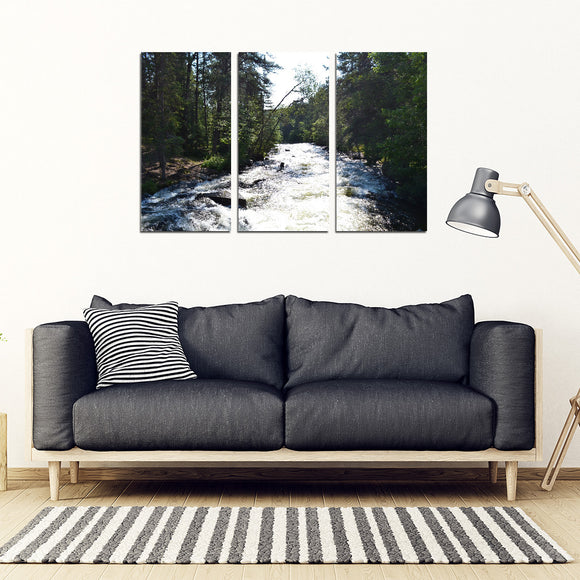 RELAXING RAPIDS 3 PCS CANVAS FRAME SET