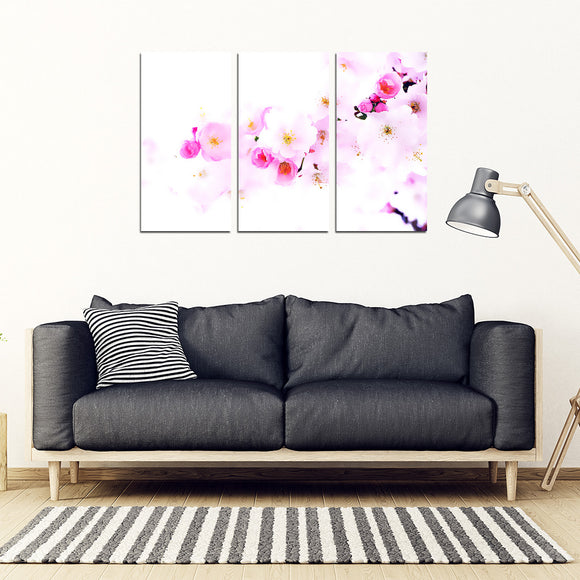 Japanese Cherry Blossoms 3 Piece Framed Canvas