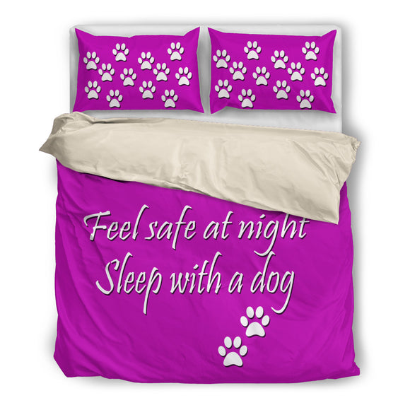 Feel safe at night sleep with a dog bed set