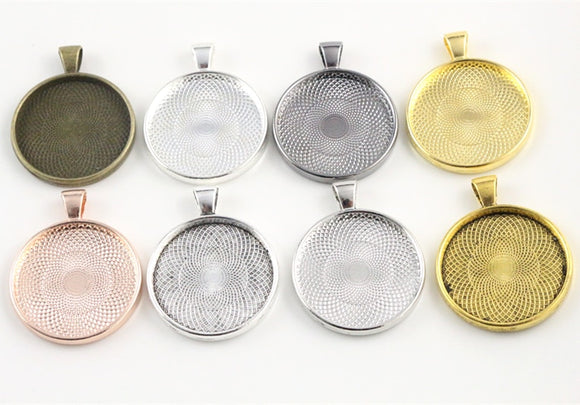 Circle Pendant Bezel Base Setting, 5pcs/Lot, 30mm