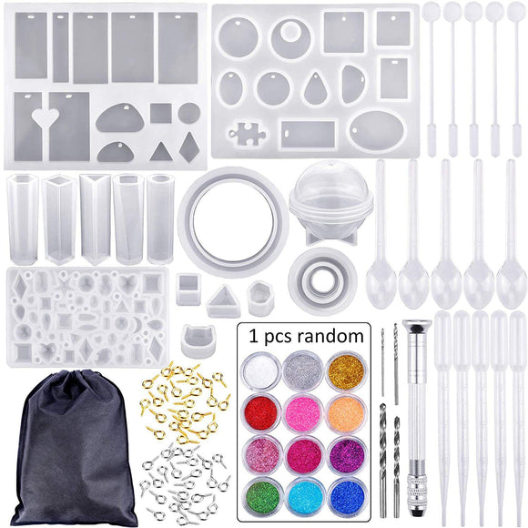 83 Piece Silicone Mold And Tool Set for DIY Jewelry Making & Crafts