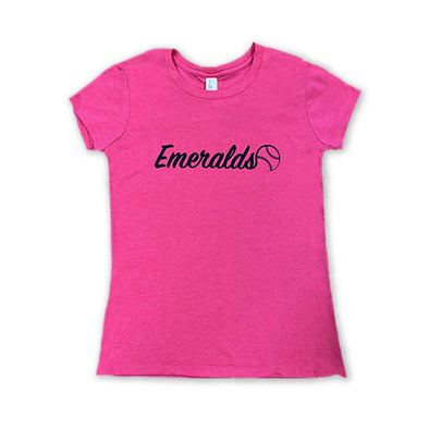 Eugene Emeralds Youth Pink Tee