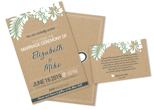 kraft paper cards, party's cards, invitation cards