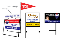 Load image into Gallery viewer, real estate signs, sidewalk signs