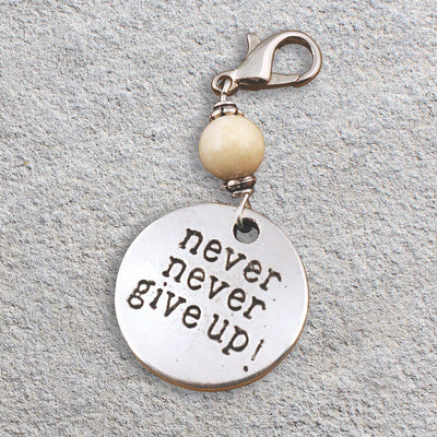 Never Give Up Charm