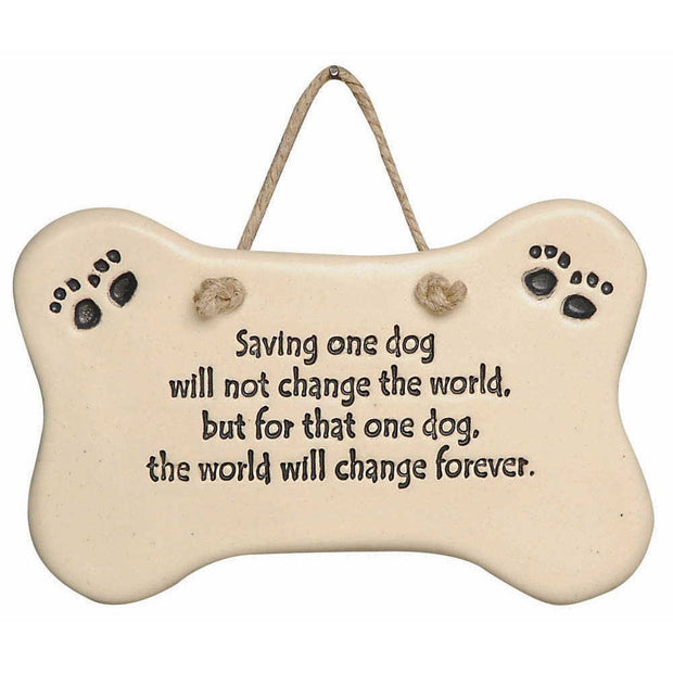Rescue Dog Plaque
