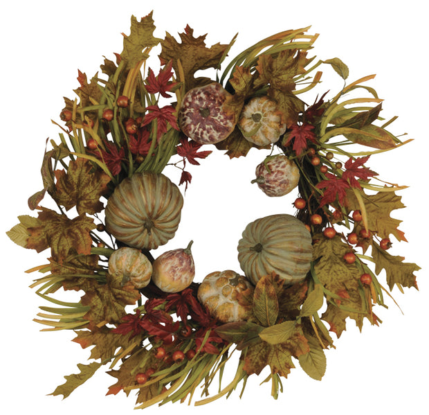 Mixed Pumpkin Wreath