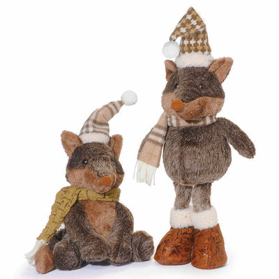 Winter Woodland Foxes
