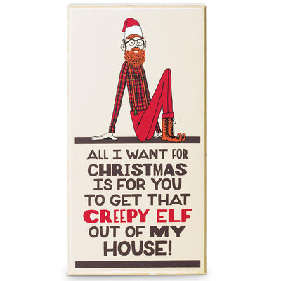 Creepy Elf Plaque