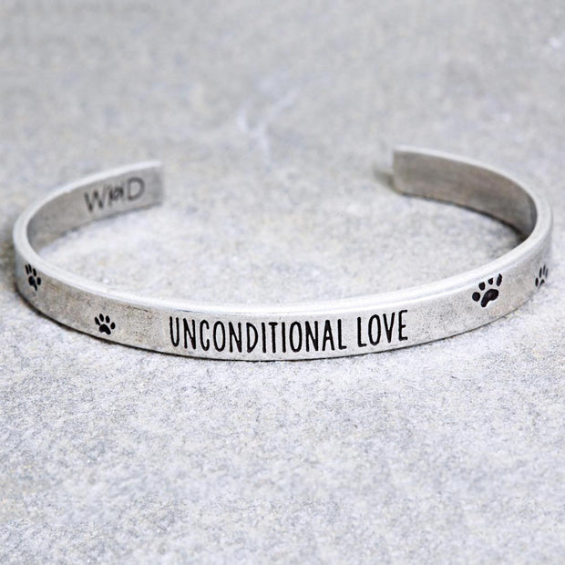 Unconditional Love Paw Print Cuff