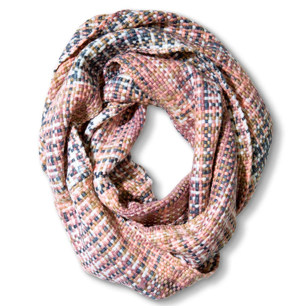 Pink Woven Threads Scarf