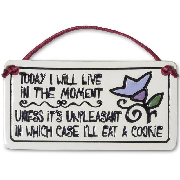 Eat a Cookie Ceramic Plaque