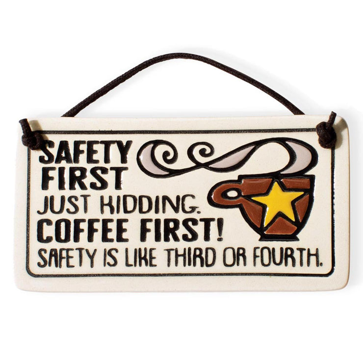 Safety First Mini Plaque
