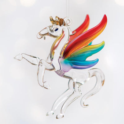 Glass Pegasus Ornament